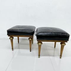 Octavio Vidales Octavio Vidales Leather Low Stools in Gilded Mahogany Bronze 1950s Mexico - 1990400