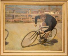 Oil Painting Bicycle Racer - 1771238
