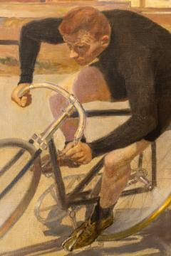 Oil Painting Bicycle Racer - 1771281