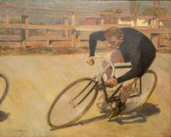 Oil Painting Bicycle Racer - 1771405