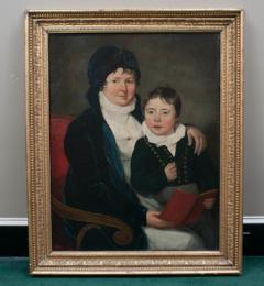 Oil on Canvas Mother and Son  - 750668