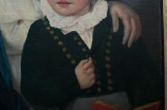 Oil on Canvas Mother and Son  - 750672