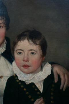 Oil on Canvas Mother and Son  - 750674