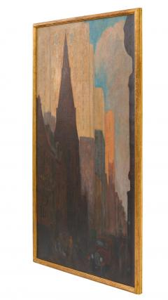 Oil on Canvas Painting of St Marks Church in Philadelphia by Yarnall Abbott - 1233132
