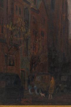 Oil on Canvas Painting of St Marks Church in Philadelphia by Yarnall Abbott - 1233133