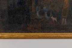 Oil on Canvas Painting of St Marks Church in Philadelphia by Yarnall Abbott - 1233134
