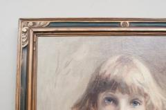 Oil on Canvas Young Girl - 750618