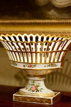 Old Paris Porcelain Reticulated Compote - 753772
