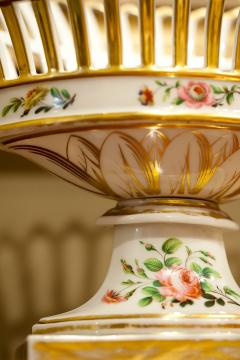 Old Paris Porcelain Reticulated Compote - 753773
