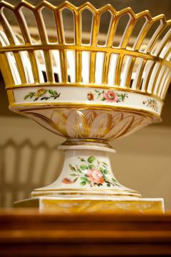 Old Paris Porcelain Reticulated Compote - 753778