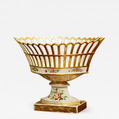 Old Paris Porcelain Reticulated Compote - 754943