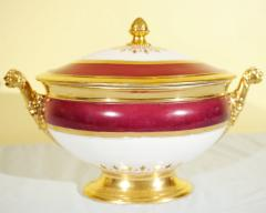 Old Paris Tureen Compote Matching Plates - 753910