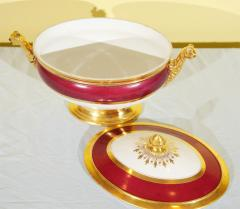 Old Paris Tureen Compote Matching Plates - 753914