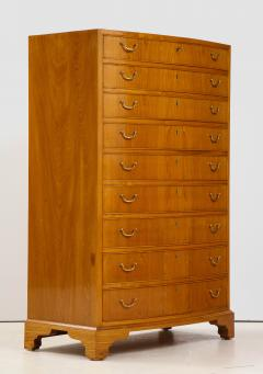 Ole Wanscher Ole Wanscher Elm Wood Tall Bow Front Chest Of Drawers Circa 1950s - 1996008