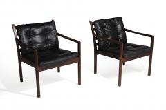 Ole Wanscher Ole Wanscher Rosewood Lounge Chairs in Original Leather - 1076712
