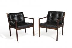 Ole Wanscher Ole Wanscher Rosewood Lounge Chairs in Original Leather - 1076716