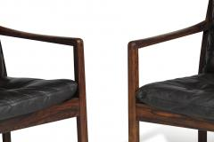 Ole Wanscher Ole Wanscher Rosewood Lounge Chairs in Original Leather - 1076717