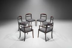 Ole Wanscher Set of Six Ole Wanscher Dining Chairs for A J Iversen Denmark 1960s - 1611533