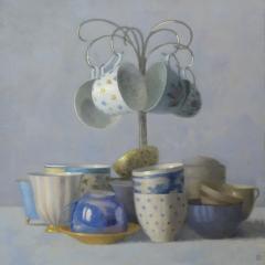 Olga Antonova Four Teacups Hanging - 134792
