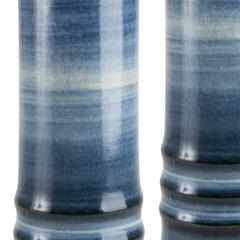 Olle Alberius Pair of Lamps with Blue Ombre Design by Olle Alberius - 1556813