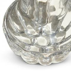 Olle Alberius Pair of Lobed Crystal Table Lamps by Olle Alberius for Orrefors - 1586523