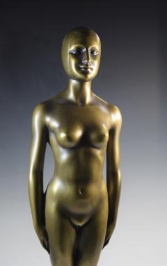 Olympic Female Swimmer Art Deco WPA Social Realism - 1392996