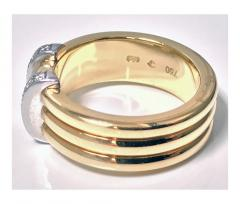 Omega 18K Yellow Gold Three Band Ring French Marks - 480606