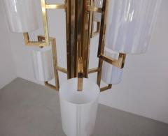 One of Two Extraordinary Huge Brass and Iridescent Glass Chandeliers - 550640