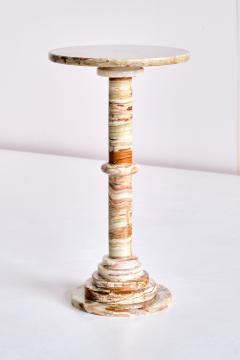 Onyx Side Table with Pedestal Base Italy 1960s - 1848667