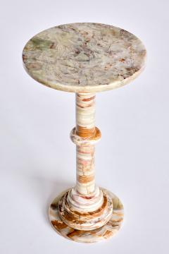 Onyx Side Table with Pedestal Base Italy 1960s - 1848671