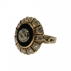 Onyx and Diamond Ring - 329884