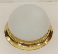 Opal Glass Brass RZB Leuchten Flushmount Lights - 345146
