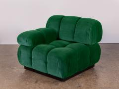 Open Air Modern Forest Green Velvet Custom Modular Tufted Loveseat - 932496