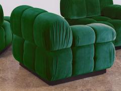 Open Air Modern Forest Green Velvet Custom Modular Tufted Loveseat - 932499