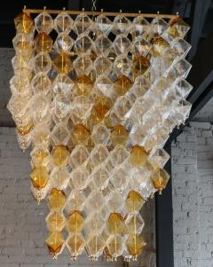 Orange and Clear Murano Glass Tiered Chandelier - 497605