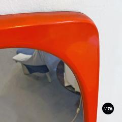 Orange plastic mirror 1970s - 2089172