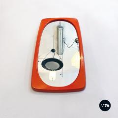 Orange plastic mirror 1970s - 2089174