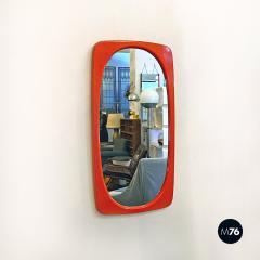 Orange plastic mirror 1970s - 2089193