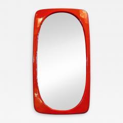Orange plastic mirror 1970s - 2090391