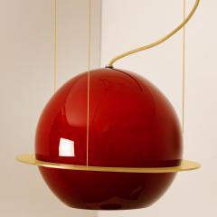 Organic Hand Blown 1 Glass Boule Light Fixture Made to Order - 1039223