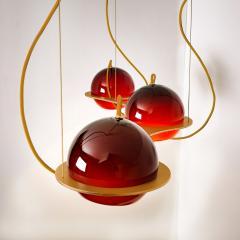 Organic Hand Blown 1 Glass Boule Light Fixture Made to Order - 1039225
