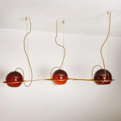 Organic Hand blown 3 Glass Boules Eye Light Fixture Made to Order - 1039233