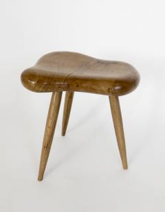 Organic Modern French Oak Stool or Side Table - 1220513