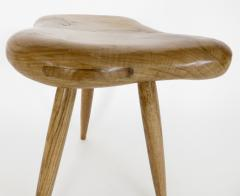 Organic Modern French Oak Stool or Side Table - 1220515