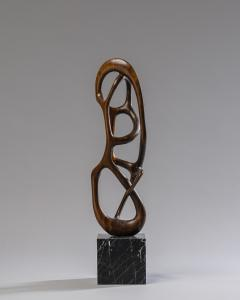 Organic Shaped Abstract Wood Sculpture France 1950s - 1955927