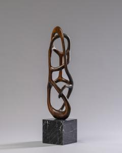 Organic Shaped Abstract Wood Sculpture France 1950s - 1955929