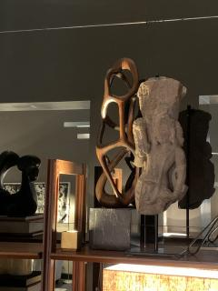 Organic Shaped Abstract Wood Sculpture France 1950s - 1955948