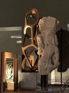 Organic Shaped Abstract Wood Sculpture France 1950s - 1955949