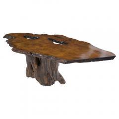 Organic Walnut Tree Trunk Freeform Table - 1988073
