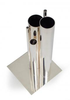 Orgue Graduated Tube Silver Plate Vase by Gio Ponti for Christofle - 774771